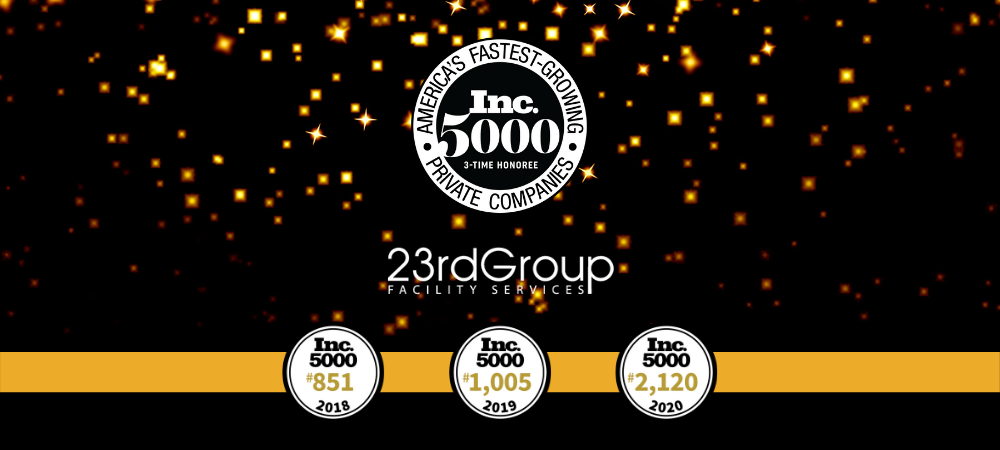 23rd Group named one of Inc. 5000's America's Fastest-Growing Private Companies in 2018, 2019, and 2020